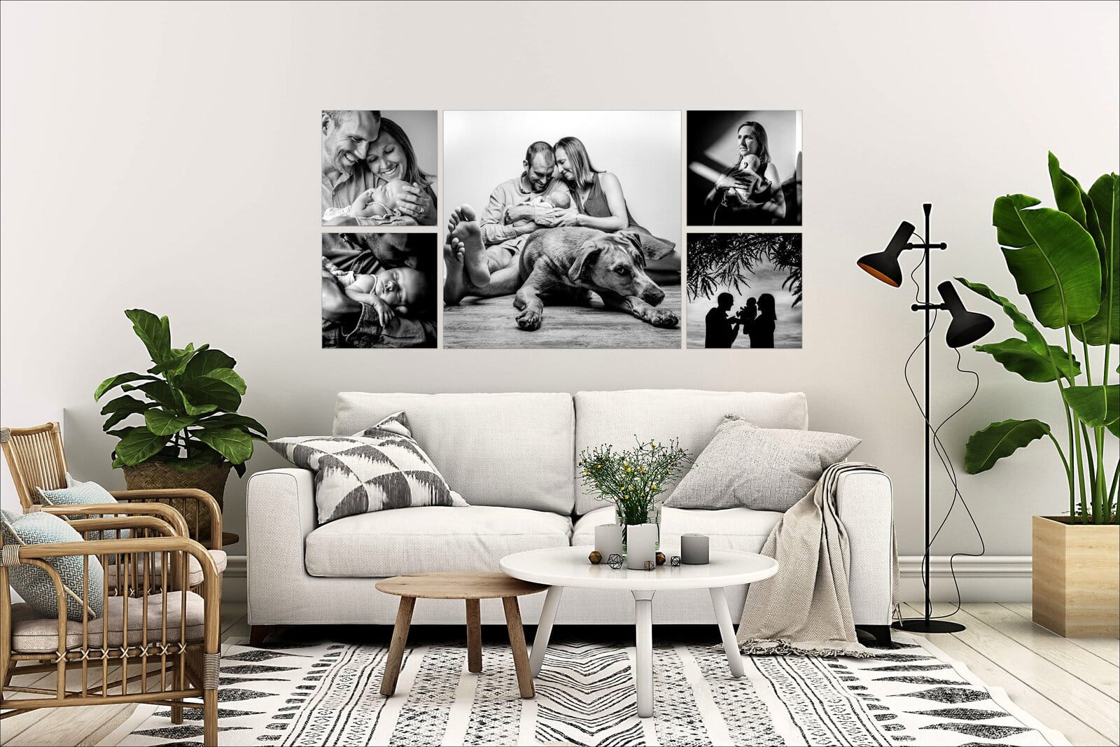 5_piece_black_and_white_wall_art